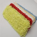 Stringed dusting mop cloth